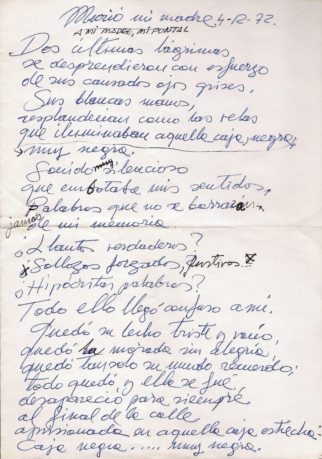 Carta manuscrita per a la seva mare