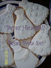 Beyaz Hanımeli Pasta ve Kurabiye Tasarımı
