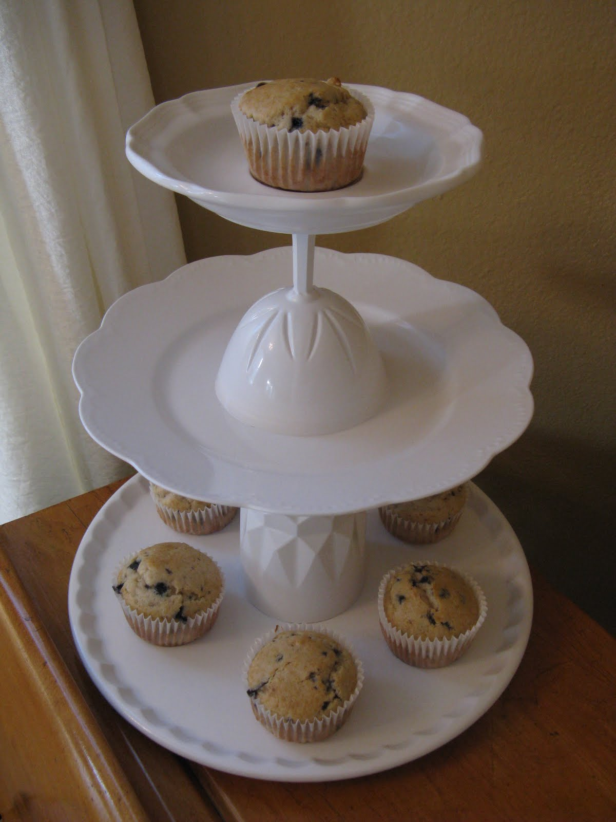 A cupcake stand tutorial for How to make a cake stand