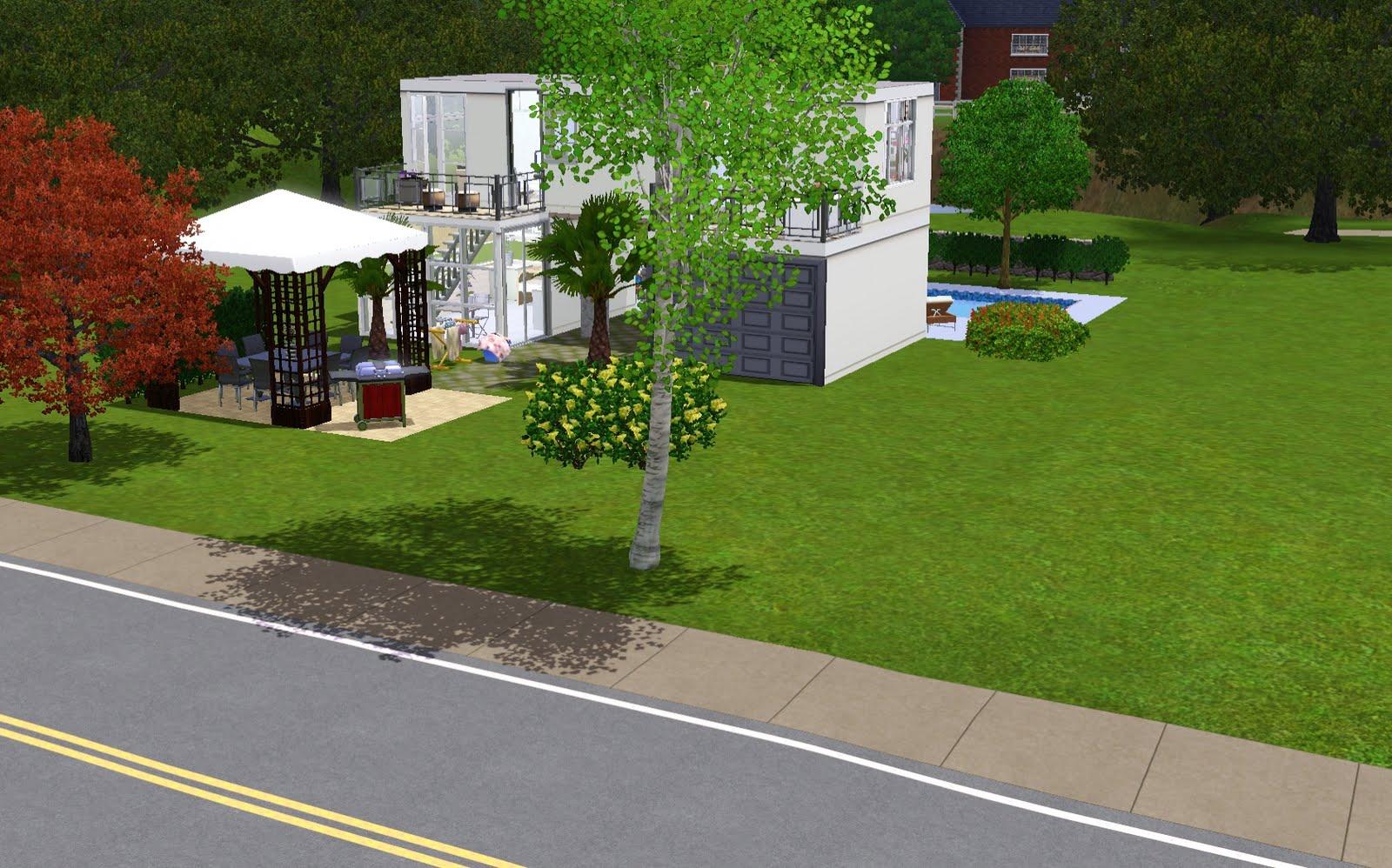Cr ation pour les sims 3 la villa moderne for Les villa moderne