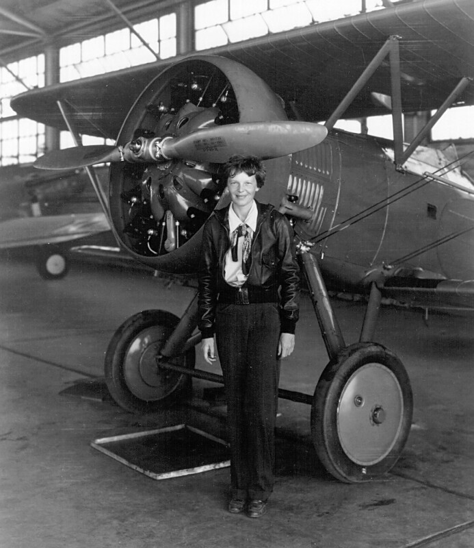 first woman to fly across
