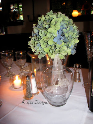 Blue and Green Succulent wedding