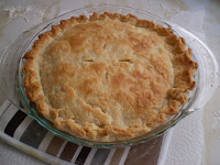 Rabbit pie made with meat from Trowlesworthy Farms