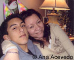 Ana and Javier Acevedo on his 17th birthday, December 30, 2007.