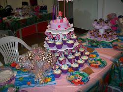 Torre de Cup Cake de la Sirenita