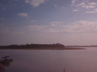 The island in the Beni River.