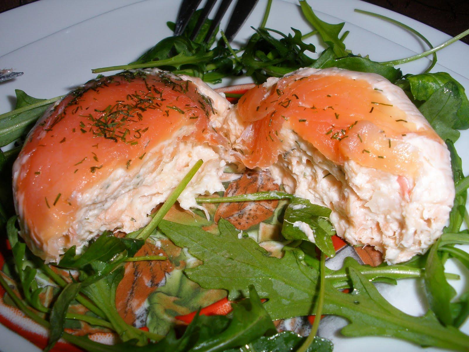 Timbale de saumon et de crevette l 39 aneth entr e froide for Entree froide original