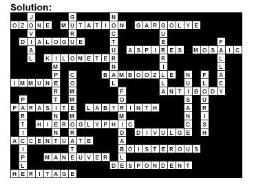 Dr Rods English Page Crossword Answers