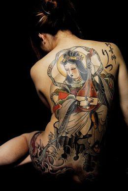 Visual Del Tatuaje, Intimida A Otros Miembros De Las Familias Yakuza