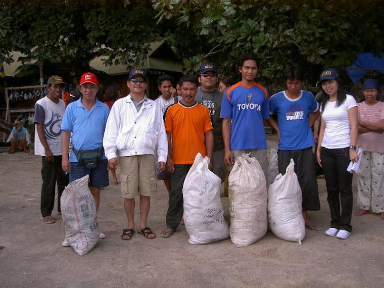 Acara ISKU 2007, Bersih Pantai Bunaken