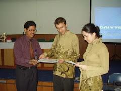 Dapat Certificate of Appreciation dari Rektor