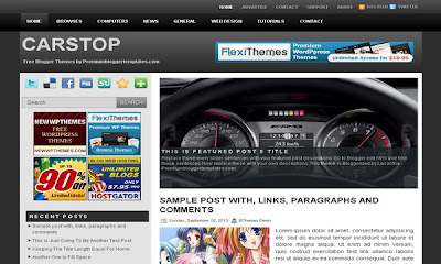 free+Car Stop+blogger+template