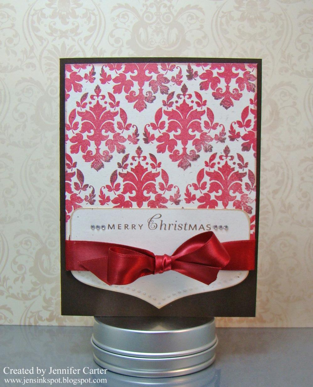 Jen\'s Ink Spot: A Damask Christmas