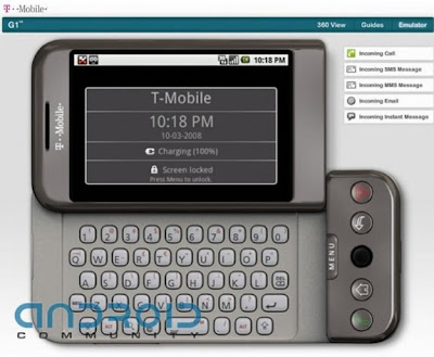 Android Phone G1 On the Web