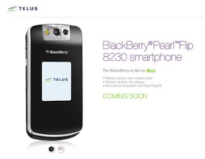 Telus BlackBerry 8230 Pearl Flip