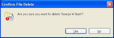 Delete George W Bush
