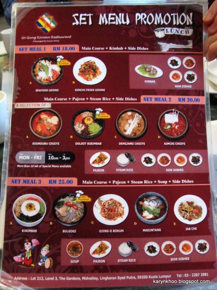 Karyn S Food Blog Gogung Korean Restaurant The Gardens Midvalley City