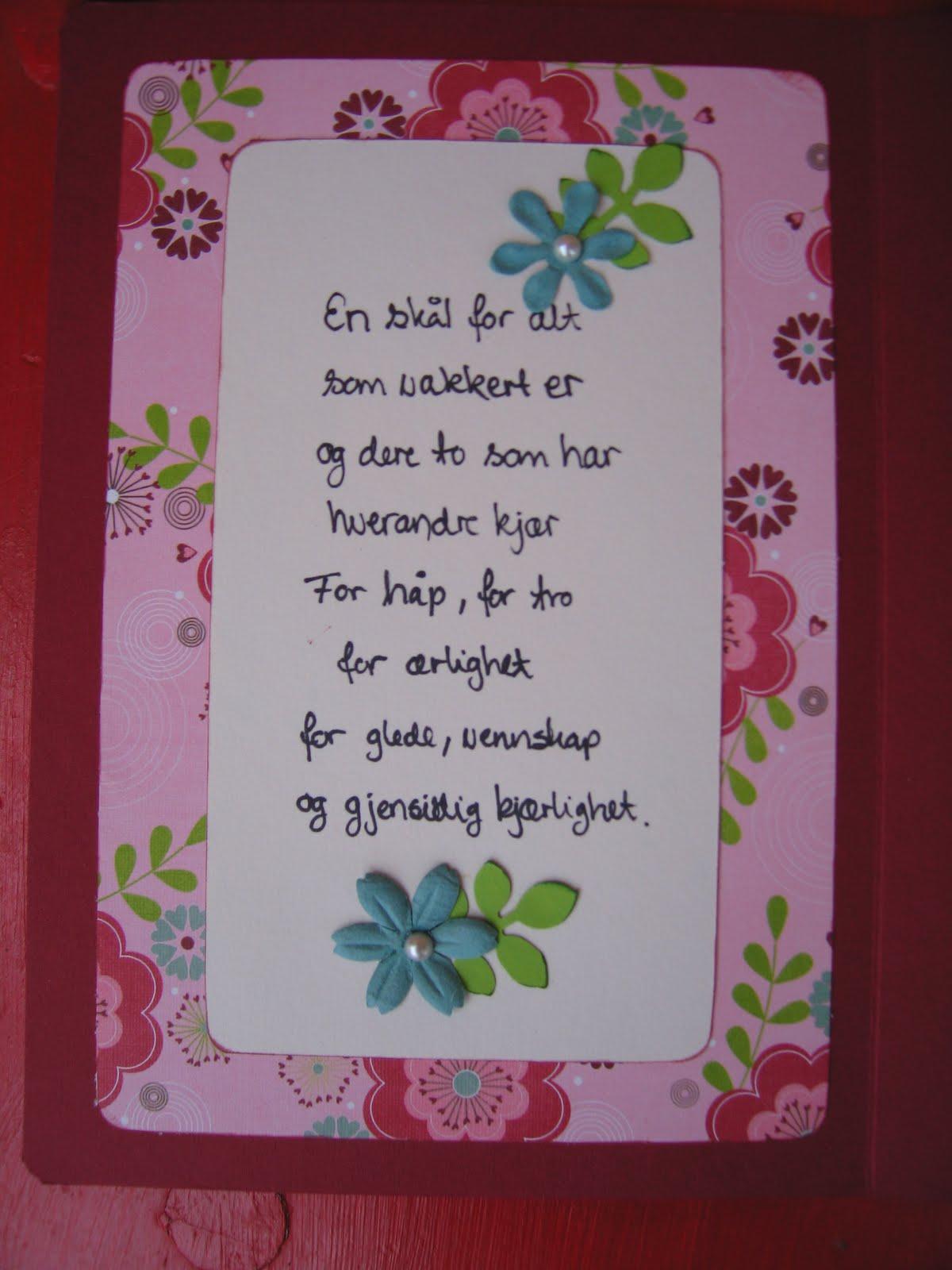 morsomme dikt til brudeparet hordaland