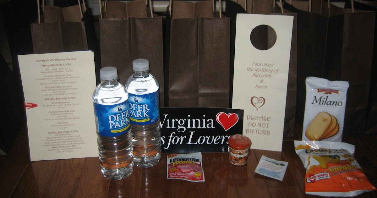 ... Engagements Wedding and Event Planners: Out of towners gift bags