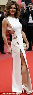 cheryl cole sexy en vestido blanco en cannes