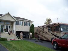 Motorhome on the MI driveway