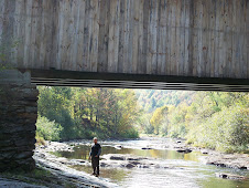 Mike under the covered bridge again