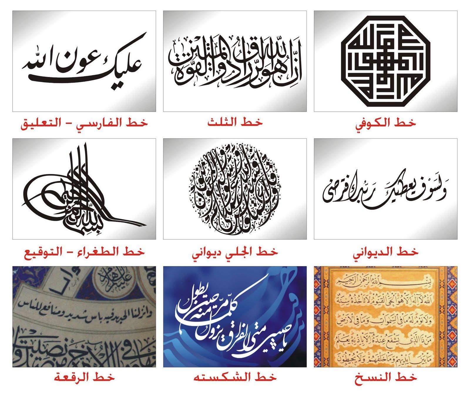 هذه بعض الخطوط العربية
