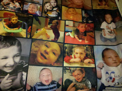 "Our photo blanket of our ""Angel"""