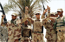 Iraqi Soldiers Celebrating.