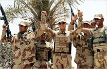 Iraqi Soldiers Celebrating.