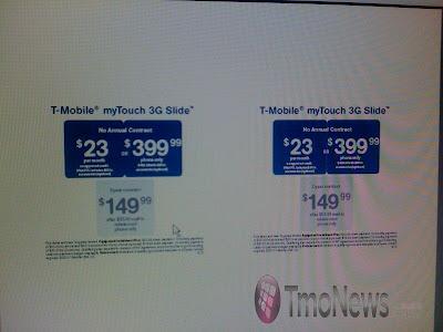 myTouch 3G Slide price