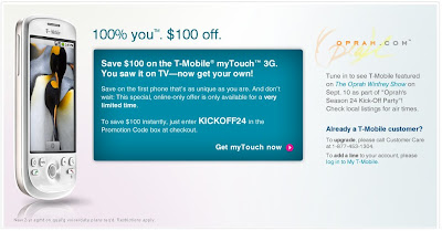 my Touch $99 with Oprah Promo code