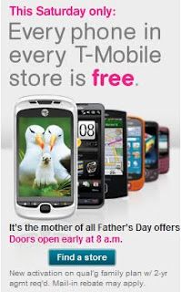 T-mobile Father's Day Promotion