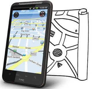 HTC Desire HD with TomTom Map