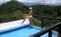 Minnie in a Malibu Strings bikini in the snow in Costa Rica picture