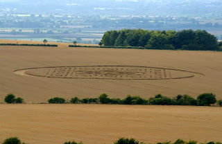 Crop Circle in Woolstone Hill images gallery