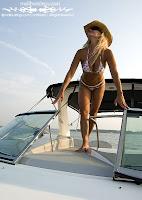 Vicki in a Pink Polka Dot Bikini (Malibu Strings) On The Lake photos gallery