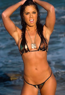 Natalie Camouflage Thong Bikini pictures images pics photos gallery
