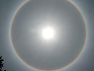 Unique phenomenon The Sun Has The Ring image photos