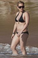 Hilary Duff in a hot black bikini Sexy Juicy Couture Swimwear pictures gallery