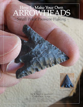How To Make Your Own Arrowheads  ~ Small Point Pressure Flaking ~