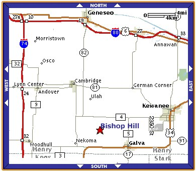 "Map Leading ""You"" to Galva, IL"