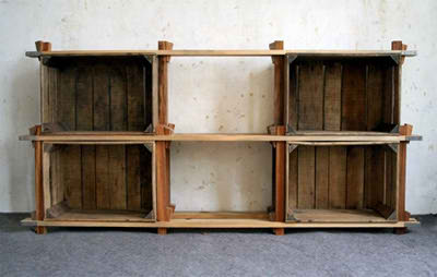 Estanteria con palets stunning cmo hacer muebles - Estanterias de palets ...
