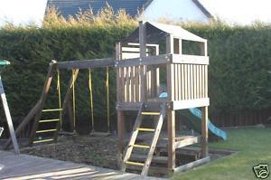 espacio de juegos infantiles para el jardn