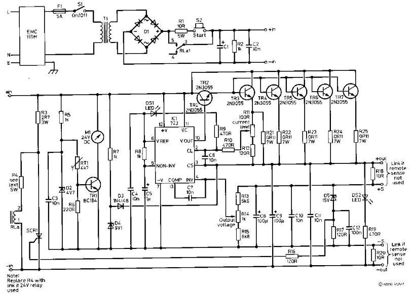 siera teknik elektronics  40 a power supply