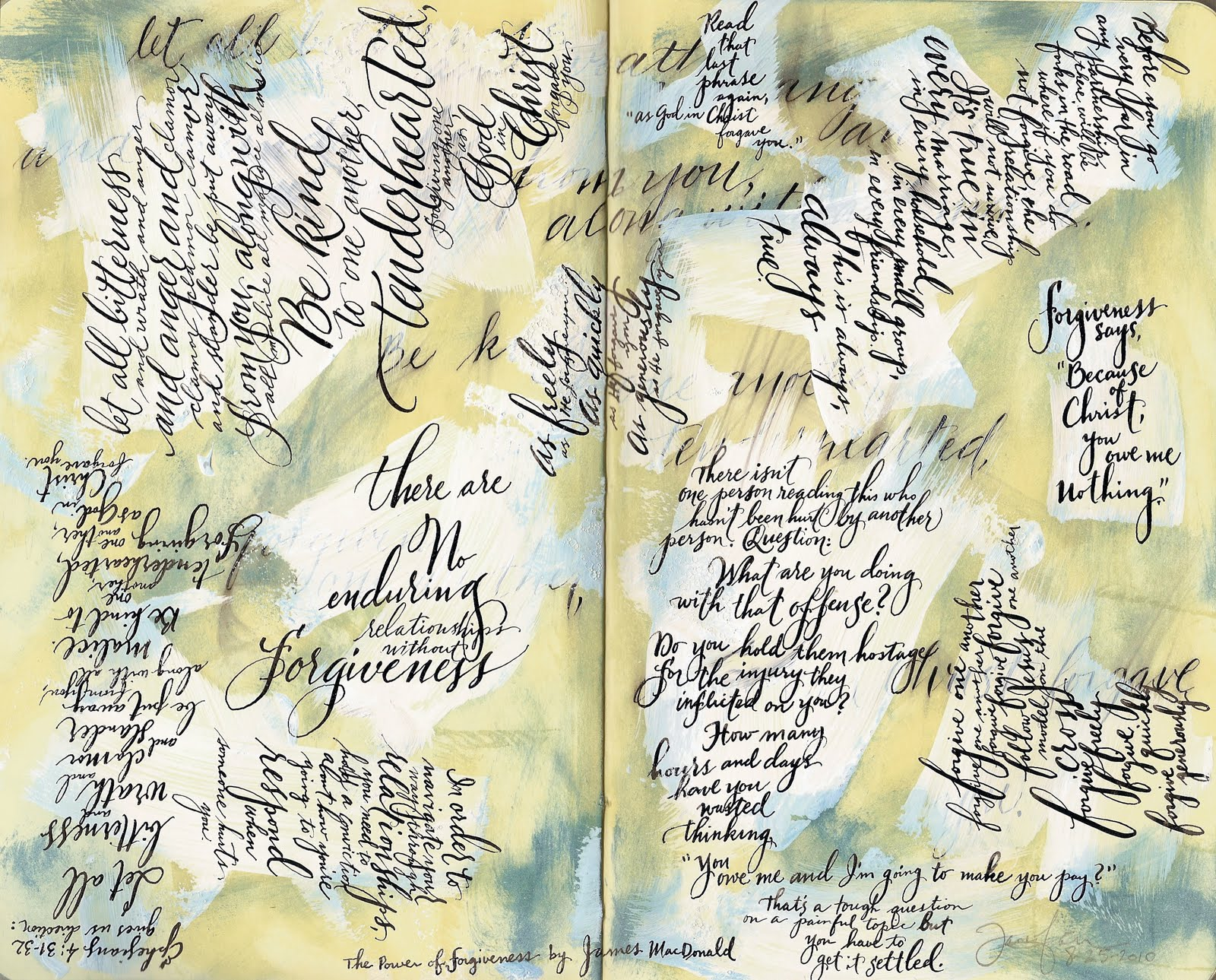 A place to flourish calligraphy friday journals