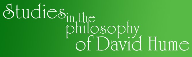 """Studies in the Philosophy of David Hume"""