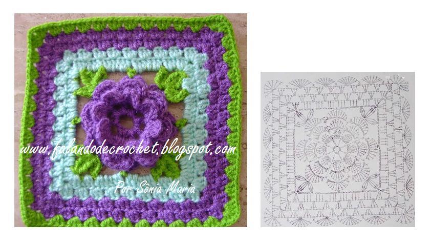... crochet gráficos 480 x 360 jpeg 34kb title quadrado de crochet para
