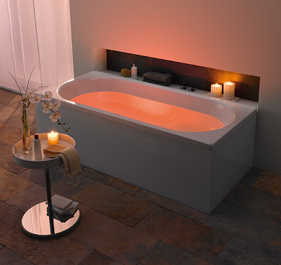 Bathroom with LED Mood Lighting Design by Kaldewei