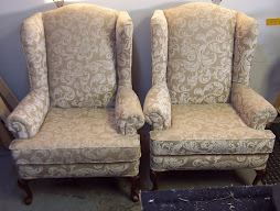 A pair of wingback chairs for Juliette